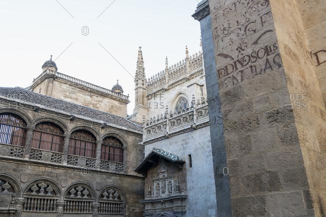 February 15, 2020: granada (spain), old town, capilla real, royal chapel