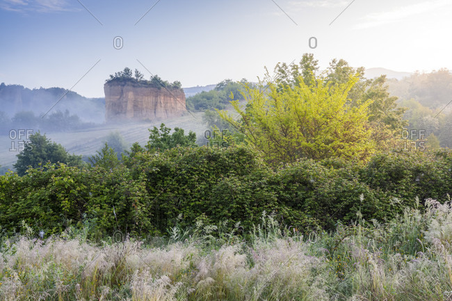The territory around the balze in valdarno, terranuova bracciolini, arezzo, tuscany, italy