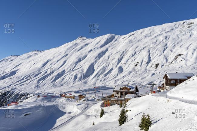 January 6, 2020: europe, Switzerland, valais, belalp, view of the wintry belalp