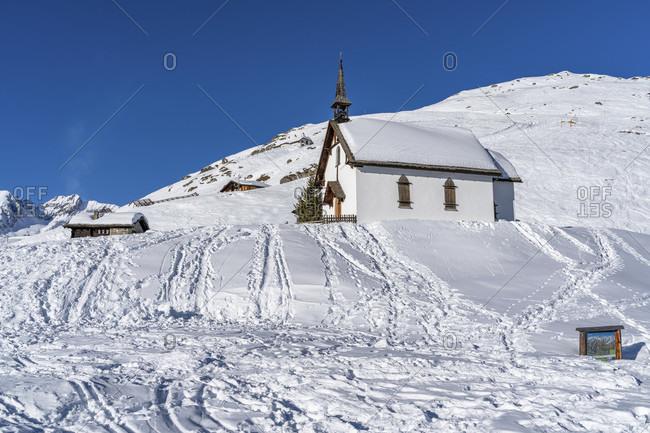 January 6, 2020: europe, Switzerland, valais, belalp, chapel at the hotel belalp