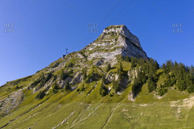 Mountain peak Molson in the friborg prealps, Molson-sur-gruyeres, canton of friborg, Switzerland