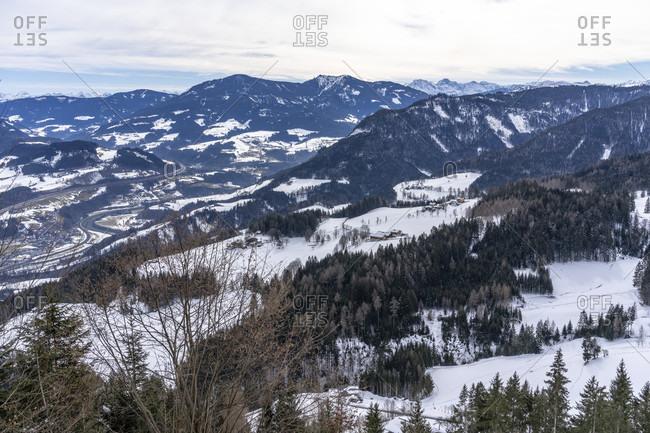 Europe, Austria, berchtesgaden alps, salzburg, werfen, ostpreussenhütte, view of the salzburg slate alps