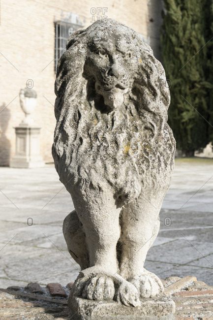 Spain, granada, albaicin, historical district, palacio de los cordova, baroque, city archive, lion figure