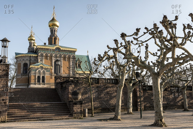 Germany, hesse, darmstadt, russian, orthodox, chapel, on mathildenhöhe, st. maria magdalena, architect leon n. benois
