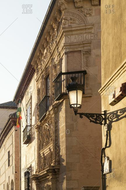 Granada (spain), albaicin district, carrera del darro, facade of the santa catalina de zafra monastery