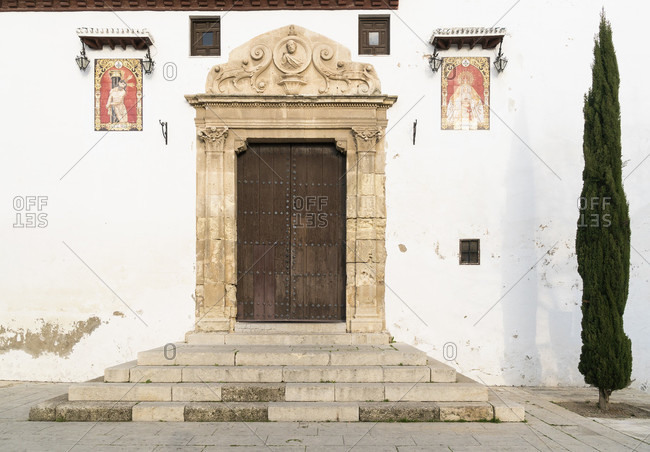 February 19, 2020: spain, granada, albaicin, iglesia de san miguel bajo, church of st. michael