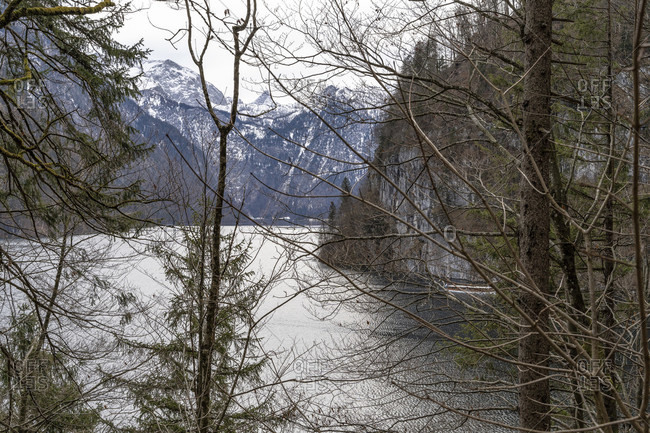 Europe, Germany, bavaria, berchtesgadener land, schoenau am koenigssee, koenigssee, view from the archenkanzel to the koenigssee