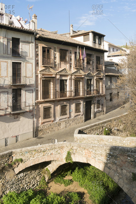 Spain, granada, albaicin, carrera del darro, palacio de los carvajal, casa de los condes de arco