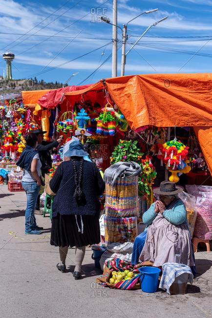 February 25, 2020: City Street Life in Potosi. Potosi, Bolivia