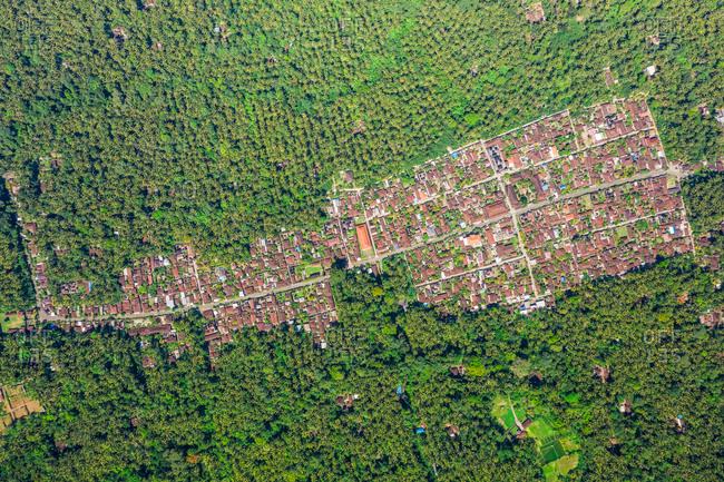 Aerial View Of Manggis Village In East Of Bali, Indonesia