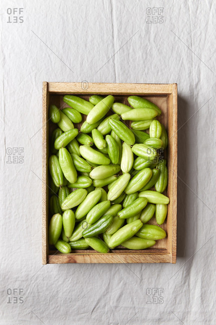 Kamias harvest in a wooden box