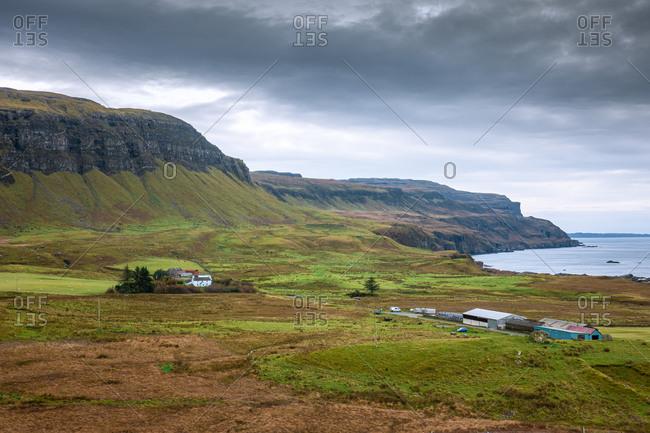 Autumnal island landscape taken on the isle of mull