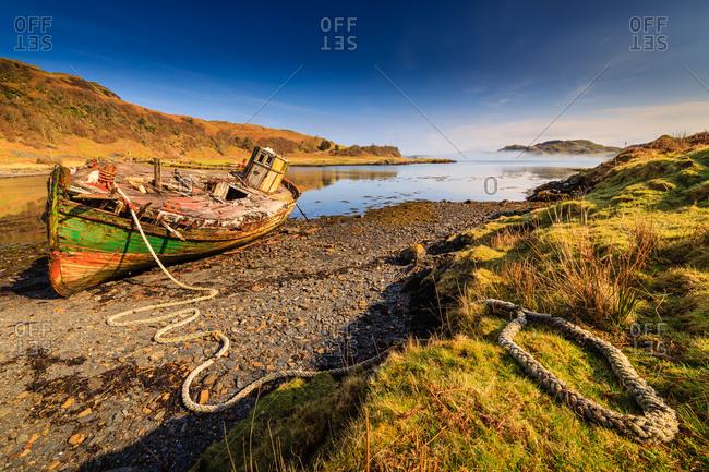 Abandoned boat on  the isle of kerrera