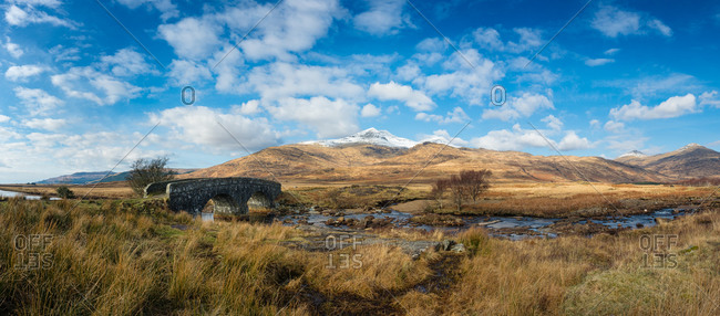 Ben more panorama with bridge in the foreground
