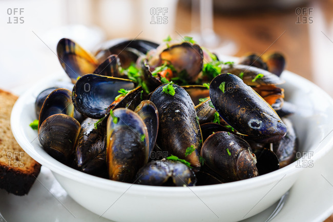 Fresh mussels from the isle of mull