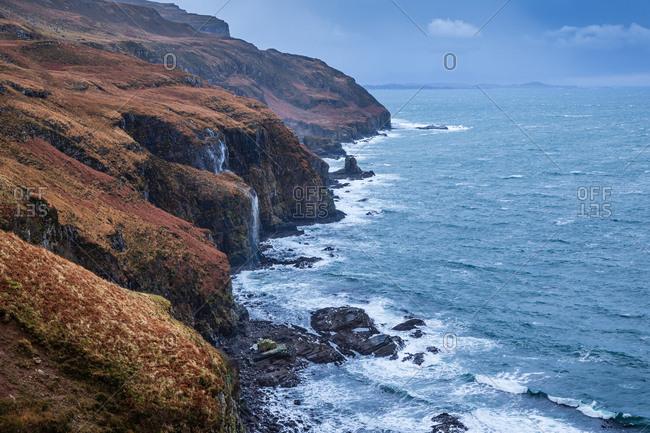 Moody weather coastal scene Scotland