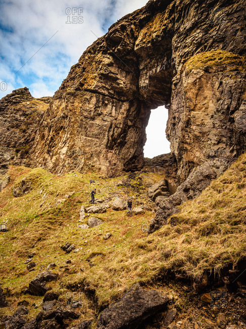 Natural archway on the isle of mull
