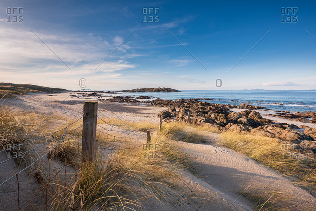 Summer beach seascape on the isle of iona