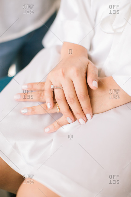 Diamond rings and wedding rings.