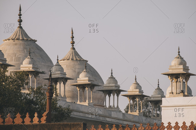 Moti Masjid also known as the Pearl Mosque in the Agra Fort, Agra.