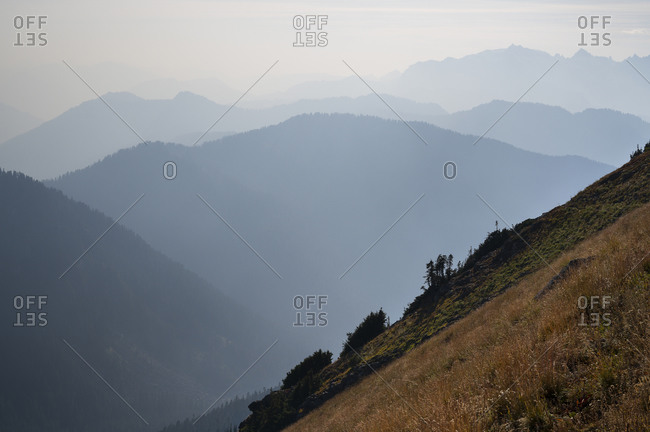 Wildfire Smoke Creates Mountain Layers In The North Cascades