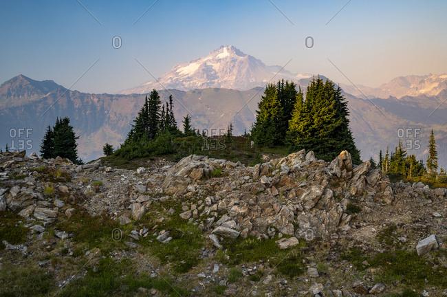 Glacier Peak Obscured By Smoke