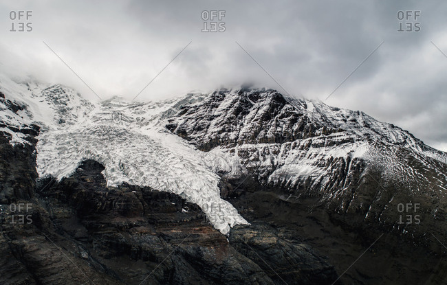 The tibetan kare glaciers - Photo from the Offset Collection