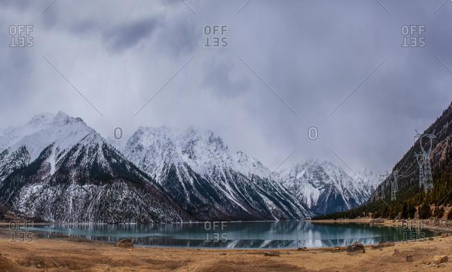 Tibet lin zhiran lake scenery