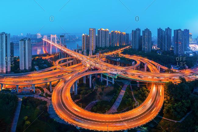 Chongqing urban architecturegoose and rock bridge