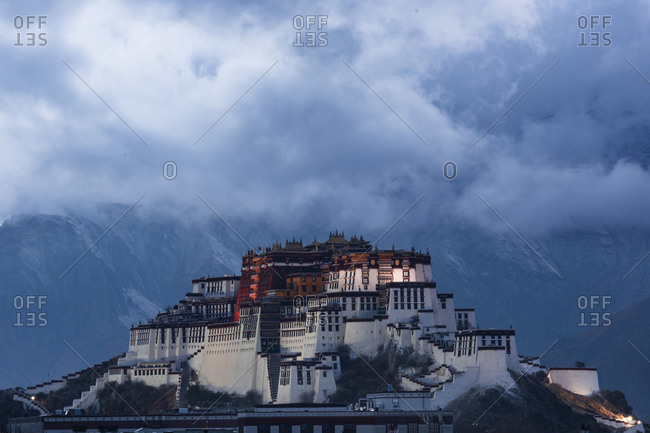 The potala palace in lhasa in tibet