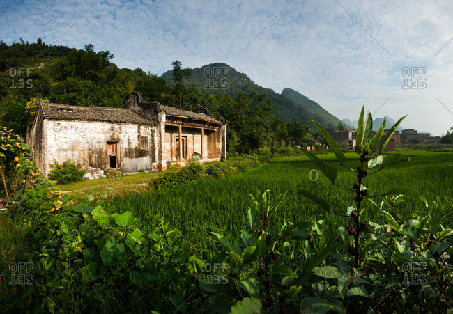 Bridge village on zhongyang county of guangxi