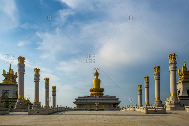 July 17, 2018: shandong yanzhou xinglong temple pagoda