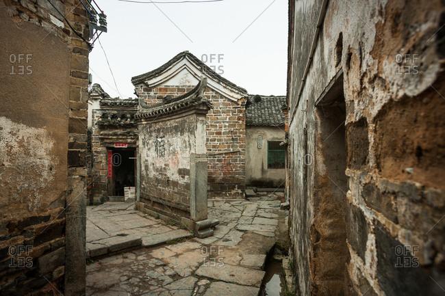 Guangxi irrigation yang county town on ridge village