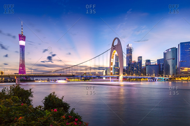 November 6, 2020: guangzhou city, guangdong province, evening scenery