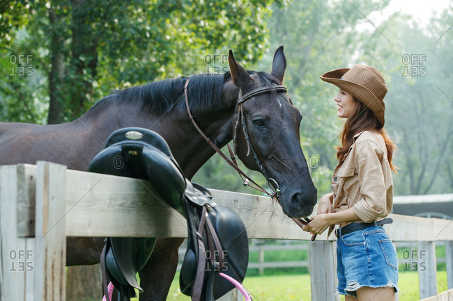 Restoring ancient ways of young girls and happy time horse