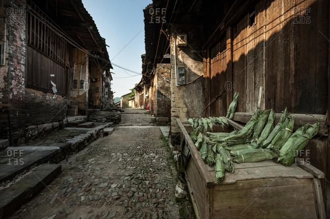 Guangxi qinzhou ling chuan county with big fair male village