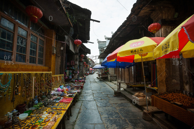 September 17, 2015: taking the old town of guilin in guangxi
