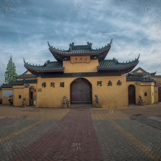May 2, 2019: nantong of jiangsu province haimen yu dong light temple town method