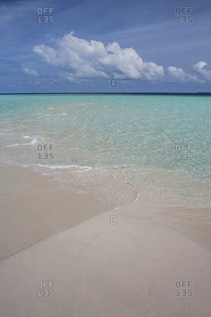 Maldives, Beach and turquoise Indian ocean
