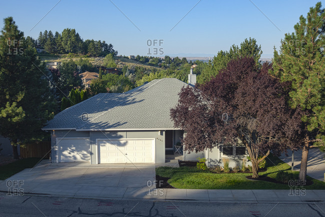 USA, Idaho, Boise, Exterior of single-family home in suburbs