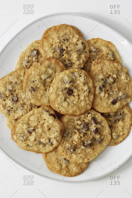 Oatmeal cookies on a plate