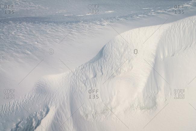 Eidembukta bay, North Spitsbergen, Svalbard and Jan Mayen, as seen on a glacier walk during an Arctic cruise