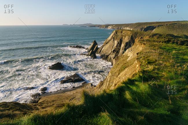 Pembrokeshire Coastal Path,  near St David's, Pembrokeshire, Wales, UK.