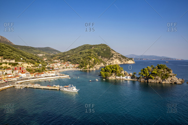 Greece- Preveza- Parga- Resort town on Ionian coast in summer