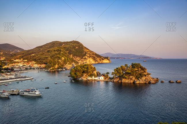 Greece- Preveza- Parga-PanagiaChapel at summer dusk