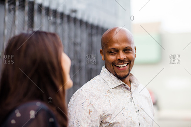 Late Forties African American Smiling in San Diego