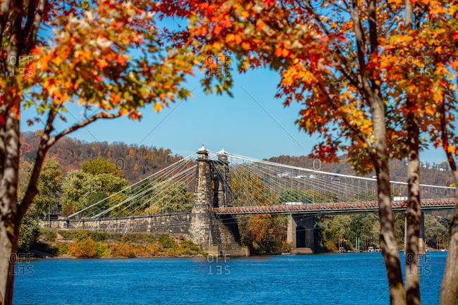 Wheeling Suspension Bridge over the Ohio River