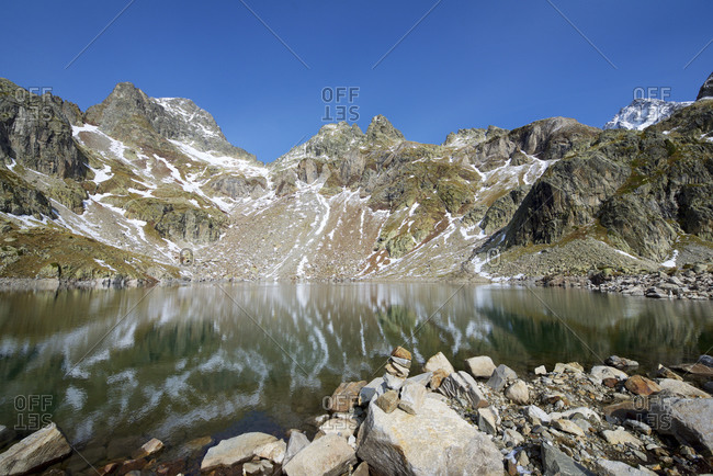 Arriel Lake in the Pyrenees, Respomuso Valley in Sallent de Gallego, Tena Valley, Huesca Province, Aragon, Spain.
