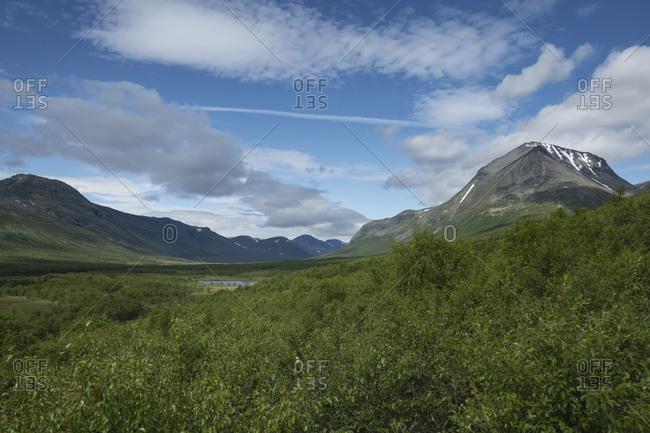 View up Tarradalen - Tarra Valley from Padjelantaleden Trail, Lapland, Sweden