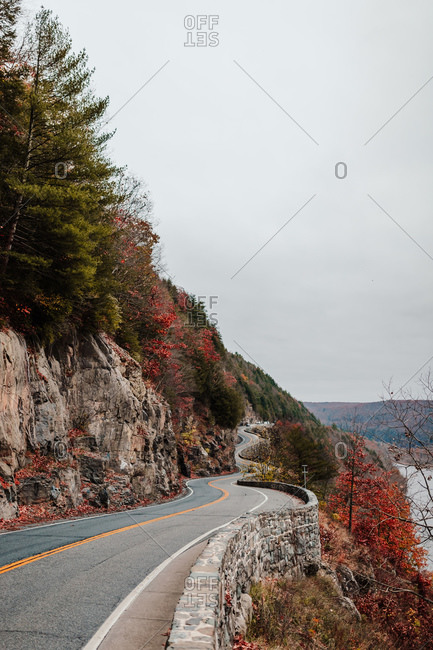 Highway in New York State, fall